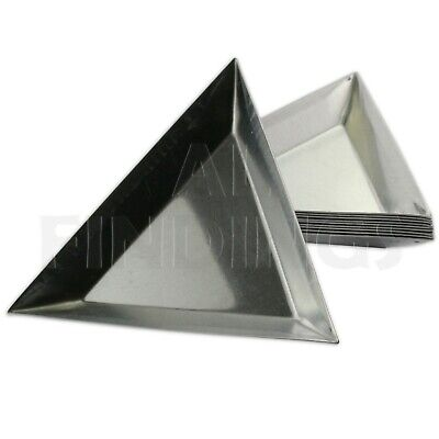 1 x Bead sorting trays scoops aluminium triangle design craft glass sort tool
