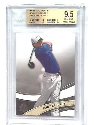 2014 UD SP Authentic Rookie Extended RC Rory McIlroy BGS