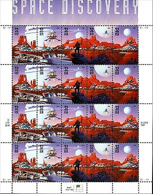 Space Discovery Sheet Scott 3238-3242 MNH Combined Shipping