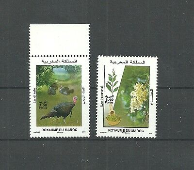 2011-Morocco- Flora and Fauna-Complete set 2 v MNH**