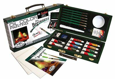 Royal and Langnickel Beginners Oil Color Painting Box Set With 2 Canvas Boards