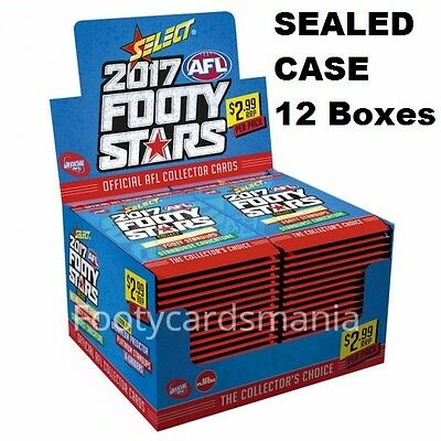 2017 Afl Select Footy Stars Factory Sealed Case - 12 Boxes + Case Card Preorder