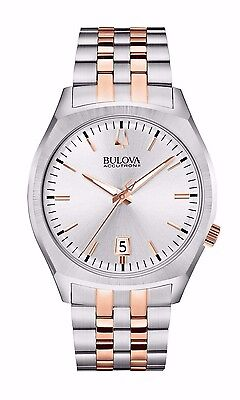Bulova Men's Accutron II Quartz Rose Gold and Silver Tone 41mm Watch 98B220