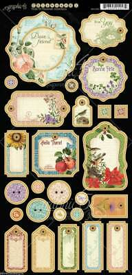 Graphic 45 Time to Flourish JOURNALING Chipboard 6X12 SHEET