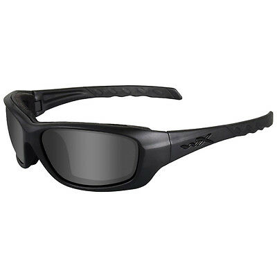 Wiley X Wx Gravity Glasses Ballistic Black Ops Smoke Grey Lens Matte Black Frame
