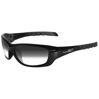 Wiley X Wx Gravity Glasses La Light Adjusting Smoke Grey Lens Gloss Black Frame
