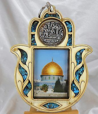 Wood Al-Aqsa Mosque Jerusalem Hand Fatima Islam Islamic Hamsa Wall Car Hanging