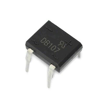 10PCS DIP- 4 DB107 1A 1000V Single Phases Diode Rectifier Bridge
