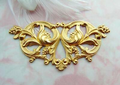 BRASS Large Victorian Floral FOCAL Flower Stamping - Finding (FA-6106)