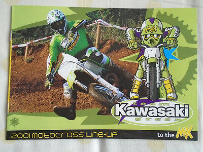 Kawasaki Motocross range Motorcycle brochure 2001 UK market small format