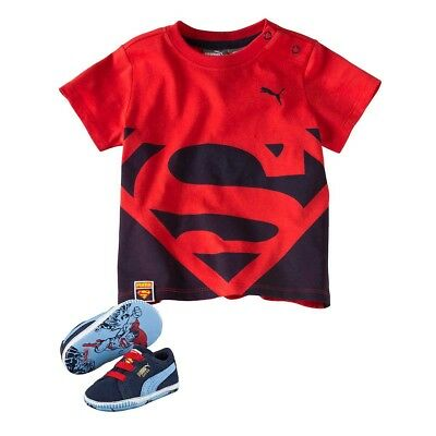 PUMA Crib pack Suede Superman 2 Krabbelschuhe + T-Shirt