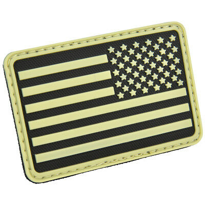 Hazard 4 Usa Flag Right Arm Morale Patch Stripes Stars Glow In The Dark