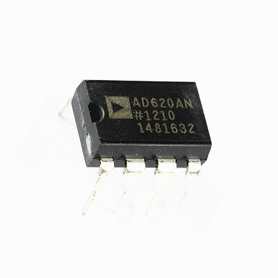 2PCS Instrumentation Amplifier IC AD620 AD620AN DIP-8 NEW