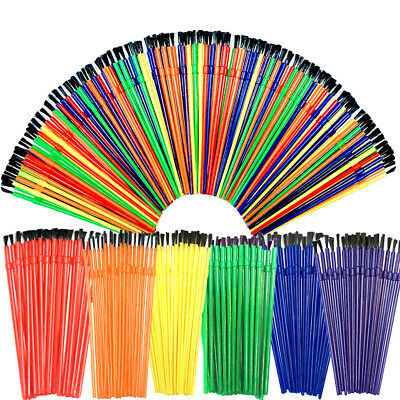 Kids Paint Brush SET Round Brushes Childrens Paint Brush set of 140  craft brush