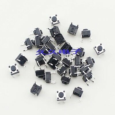 100pcs Micro switch push button 6 * 6 * 5 mm 6x6x5mm NEW