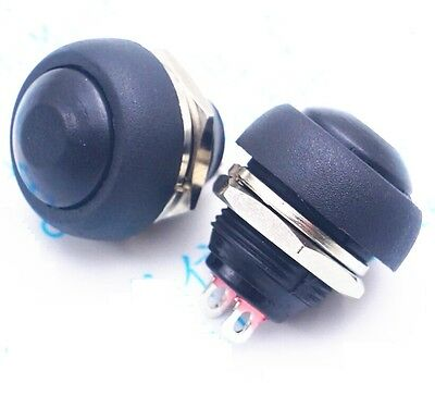 1PCS Black 12mm Waterproof momentary Push button Switch Mini Round Switch