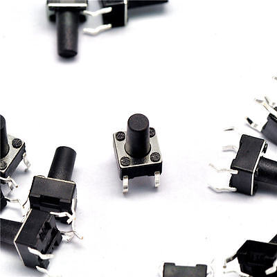 100pcs 6X6X9 MM Micro switch push button 6 * 6 * 9 mm NEW
