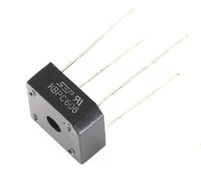 2PCS KBPC606 606 6A 600V Bridge Rectifier NEW