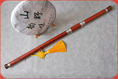 Professional Chinese Wind Instrument Bawu Natural Wood Reed Flute Musical Key F