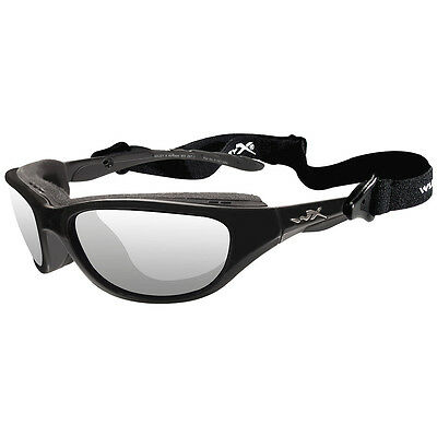 Wiley X Airrage Glasses Clear Antiscratch Impact Safety Lens Gloss Black Frame