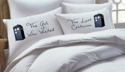 RK Grace 2 Piece Doctor Who Inspired His Hers Pillowcase Set