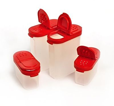 Tupperware Modular Spice Shaker Set Of 4 Shakers (2 Large,2 Small) Free Shipping