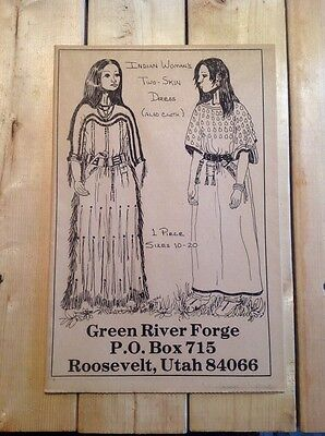 GREEN RIVER FORGE Indian Women's Two Skin Dress Pattern Size 10-20