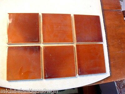 6 Vintage Reclaimed Old Bridge Art Pottery Architectural Tiles