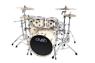 Crush Drums Eminent Birch 5 Piece Shell Pack Drum Kit/Satin Vintage White/NEW