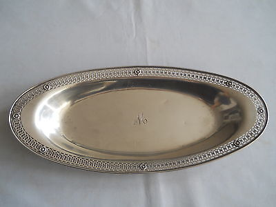 "Birks Sterling Oval Pierced Rim Bread Dish/tray 11"" 266 Grams"