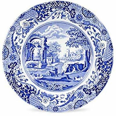 Spode CR Gibson Blue Italian Camilla Coated Paper Lunch Dessert Plate 8 Pack NIP
