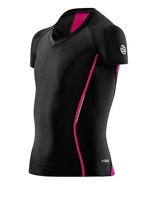 SKINS A200 YOUTH Girls Short Sleeve Compression Top NWT