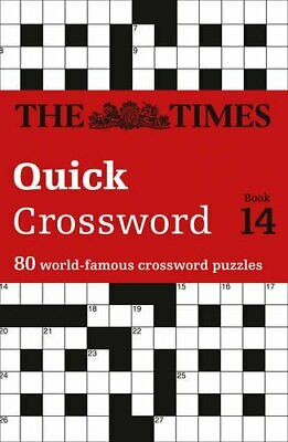 The Times Quick Crossword Book 14 by Times2 Paperback Book The Cheap Fast Free