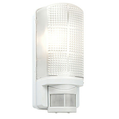 Saxby 48740 White Outdoor Garden IP44 Motion Sensor Security Robust Wall Light