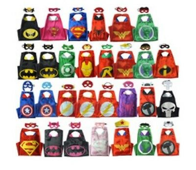 Children Kids Superhero Fancy Dress Costume Cape Mask Super Hero Party Halloween