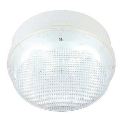 Saxby 44862 - Pluto- 16W Fluorescent Prismatic Round IP65 Bulkhead Ceiling Light