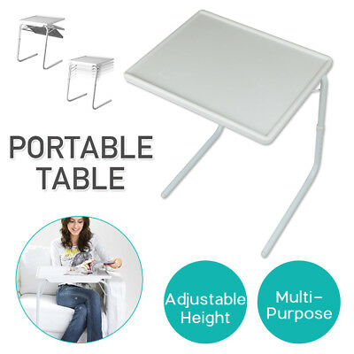 Foldable Table Ajustable Tray Bed Portable Laptop Desk TV Dinner Bed Mate Office