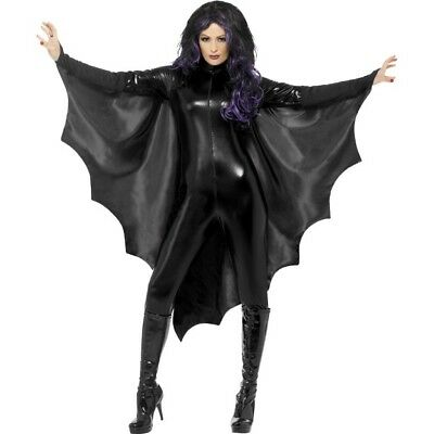 Vampire Bat Wings Ladies Halloween Fancy Dress Accessory Vampires Cape