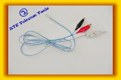 Krone Test cable with RJ11 plug & alligator clips