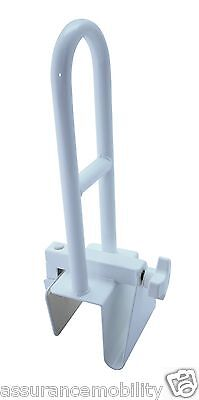 Clamp On Bath Edge Safety Grab Bar Rail - For Help Getting In/Out of Bath