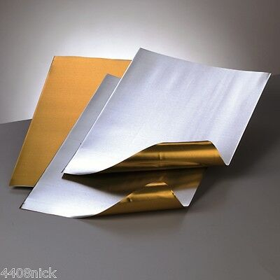 A4  ALUMINIUM EMBOSSING METAL SHEET  GOLD / SILVER 0.15 mm