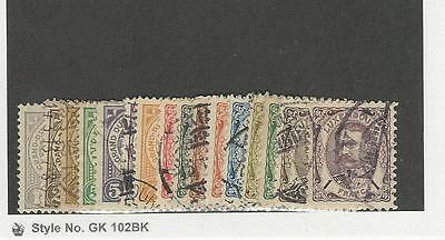 Luxembourg,  Postage Stamp, #75-89, 91 Used, 1906-1926