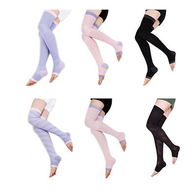 Overnight Slimming Compression Sleeping Stockings Socks Support Tights Varicose