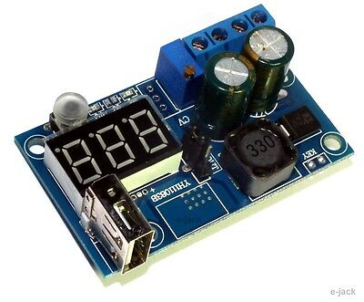 LM2596 DC Power Supply Adjustable Step-Down Module Converter LED Voltmeter + USB
