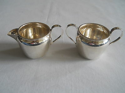 International Sterling Silver Creamer & Sugar Bowl