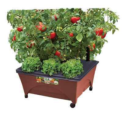 "25"" x 21"" Patio Raised Elevated Flower Plant Garden Bed Box Planter Kit Portable"