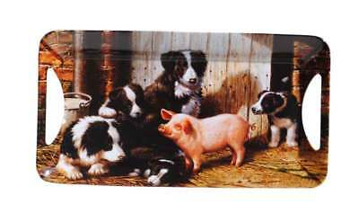 New Border Collie Pig Country Style Melamine Sandwich Tray