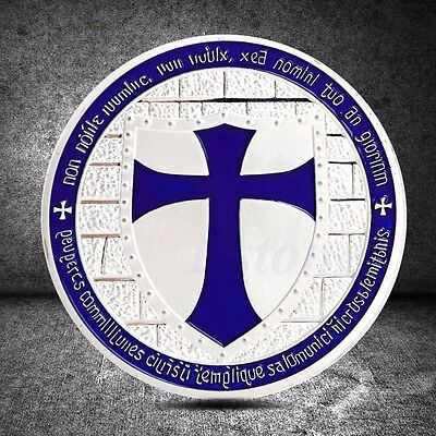 Cross Crusader Knights Templar Commemorative Coin Art Collection Christmas Gift