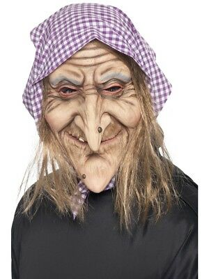 Old Witch Face Mask Creepy Witches Halloween Fancy Dress Mask