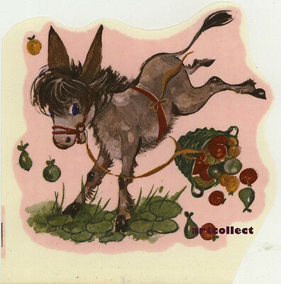 Vintage Ceramic Decal: Donkey. (Mulder & Zoon, Amsterdam. Printed in Holland.)